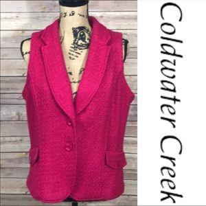 Coldwater Creek Fuchsia Pink Vest